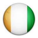 divoire, of, Cote, flag Black icon