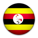 of, Uganda, flag Black icon