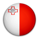 of, Malta, flag Red icon