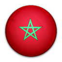 of, flag, morocco Crimson icon