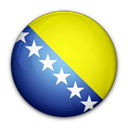 bosnia, And, flag, herzegovina, of Black icon