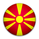 Macedonia, of, flag Black icon
