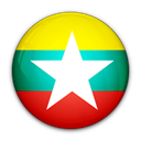 of, myanmar, Burma, flag Black icon