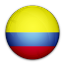 of, Colombia, flag Black icon