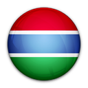 of, Gambia, the, flag Black icon