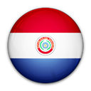 Paraguay, flag, of Black icon