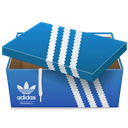 shoe, Box, Adidas SteelBlue icon