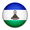 Lesotho, of, flag Black icon