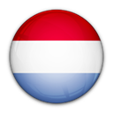 of, Luxembourg, flag Black icon