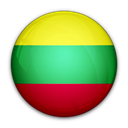 of, flag, Lithuania Black icon
