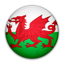 Wales, of, flag Black icon