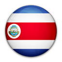 flag, of, rica, Costa Black icon