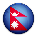 Nepal, of, flag Black icon