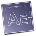 adobe, Aftereffects SlateGray icon