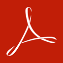 adobe, reader, Acrobat Firebrick icon