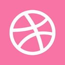 dribbble HotPink icon