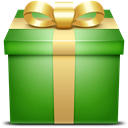 green, present, gift ForestGreen icon