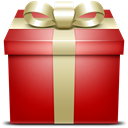 red, gift, present Firebrick icon