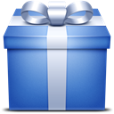 gift, present, Blue Icon