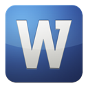 word, Ms DarkSlateBlue icon