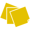 Notes, sticky Gold icon