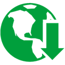 internet, download, manager ForestGreen icon