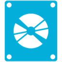 Dvd, drive DarkTurquoise icon