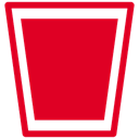 Full, Bin, recycle Crimson icon