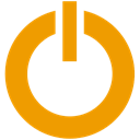 power, standby Orange icon