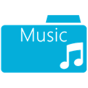 music, Folder DarkTurquoise icon