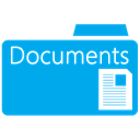 documents, Folder DeepSkyBlue icon