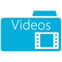 videos, Folder DarkTurquoise icon
