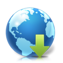 earth, planet, world, Downloads SteelBlue icon