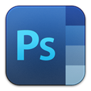 adobe, photoshop SteelBlue icon