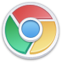 chrome, lite IndianRed icon