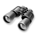 zoom, search, Find, Binoculars Black icon