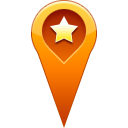 pin, star, start, Favorite, location Icon
