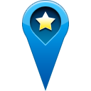 pin, Favorite, start, star, location Teal icon