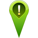 pin, warning, location OliveDrab icon