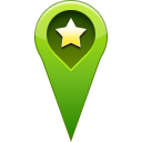 start, pin, location, star, Favorite OliveDrab icon