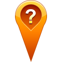 location, question, pin Chocolate icon