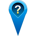 pin, location, question Teal icon