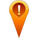 pin, location, warning Chocolate icon