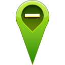 remove, pin, location OliveDrab icon