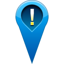 location, warning, pin Teal icon