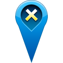 pin, remove, location Teal icon