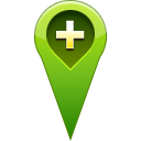 location, Add, pin OliveDrab icon