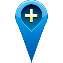 Add, pin, location Teal icon