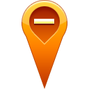 pin, location, remove Chocolate icon