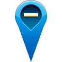 pin, location, remove Teal icon